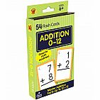 Addition 0 to 12 Flash Cards Grade 1-3
