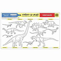 Dinosaurs Color A Mat