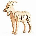 GOAT 3D MINI WOODEN PUZZLE