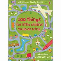 Cards 100 Things For Children To Do On A Trip hardback