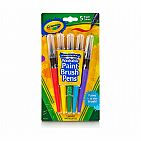 5ct No Drip Paint Brush Set