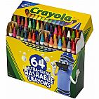 Ultra Clean Washable Crayons, Built in Sharpener, 64 Count