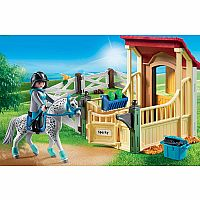 Horse Stable with Appaloosa