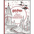 Harry Potter Magical Places & Characters Coloring Book Paperback