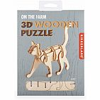 CAT 3D MINI WOODEN PUZZLE