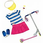 Our Generation Dolls Cute To Scoot Doll Deluxe Scooter Outfit, 18""