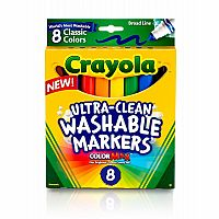 8ct Ultra Clean Washable Markers