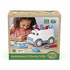 Ambulance & Doctor's Kit Role Play Set - Red/Blue