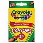 24 Crayons In Peggable Box
