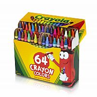 64 Crayons With Sharpner