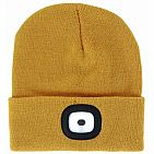Mustard Yellow LED Beanie - Rechargeable