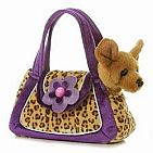Fancy Leopard Print Pet Carrier