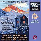 Rocky Mountain National Park Poster Art of the WPA Puzzle