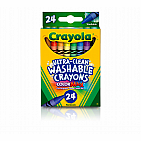 Ultra-Clean Washable Crayons, 24 Count