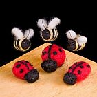WoolPets Ladybugs and Bees