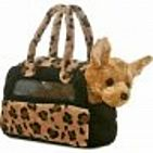 Fancy Pals Chihuahua Leopard Bag