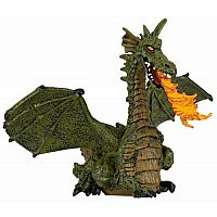 Green Winged Dragon With Fire