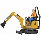 Jcb Micro Excavator With Worker