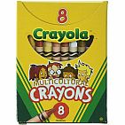 Regular Multi-Cultural Crayons, Assorted Color, Pack of 8