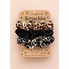 ANIMAL PRINT VELVET SCRUNCHIE SET