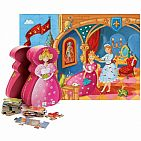 Princess And Frog Silhouette Puzzle 36 Pc