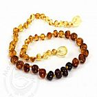Baroque Rainbow Small Amber Necklace
