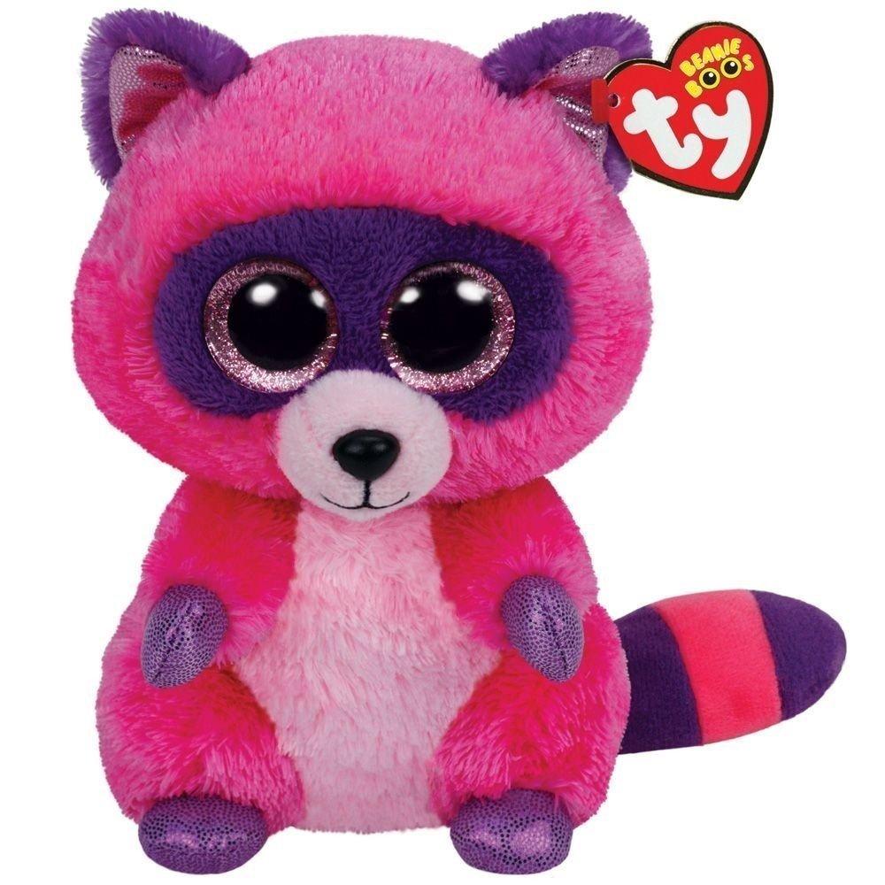 Roxie Purple Raccoon Medium Beanie Boo Grand Rabbits
