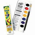 Watercolor Mixing Set with Taklon Paint Brush, 8 Paint Colors