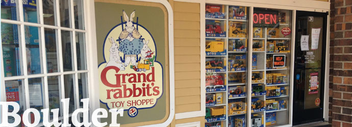 Grandrabbit's Toy Shoppe on Arapahoe Ave in Boulder, CO